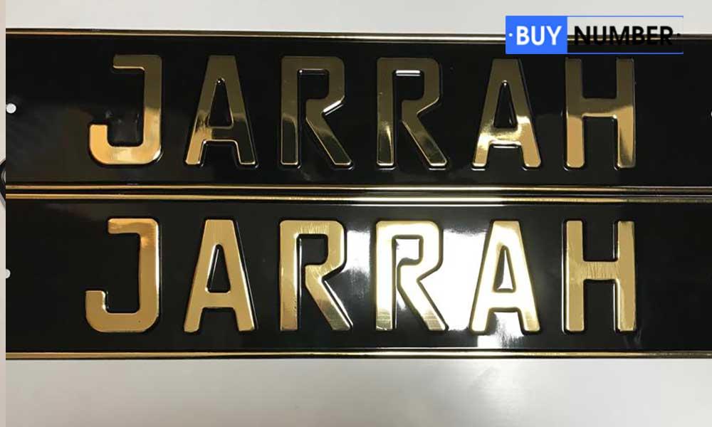 Именной гос номер на авто Jarrah