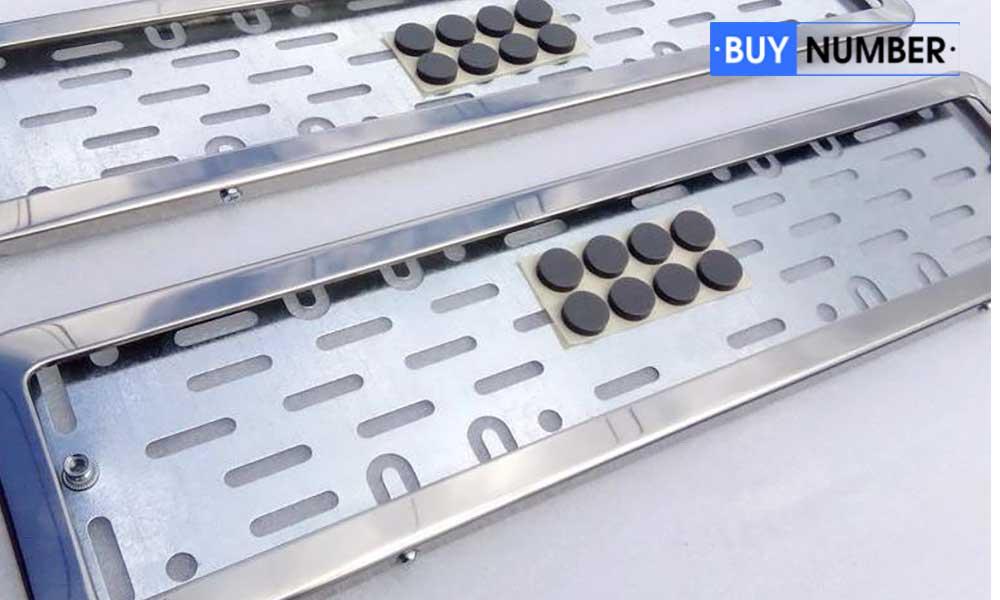 Рамка из нержавеющей стали для номера