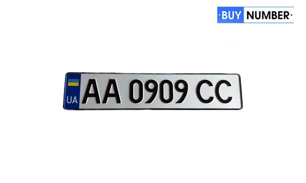 Дубликат украинского номера на машину МВД