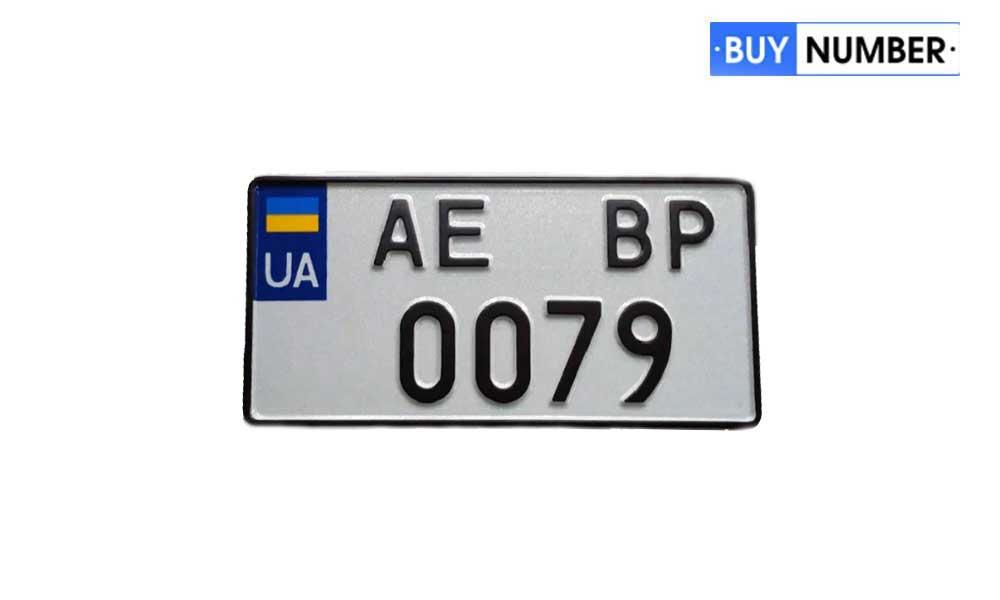 Дубликат квадратного украинского номера на автомобиль нового типа