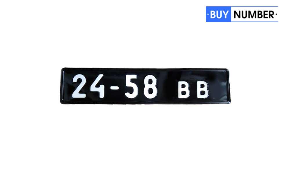 Советские военные номера для грузовых машин (черные)