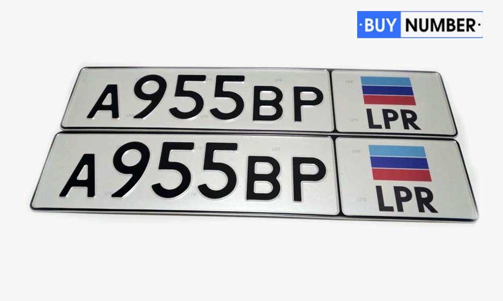 Дубликат Луганского грз для грузового автомобиля нового образца (ЛНР)