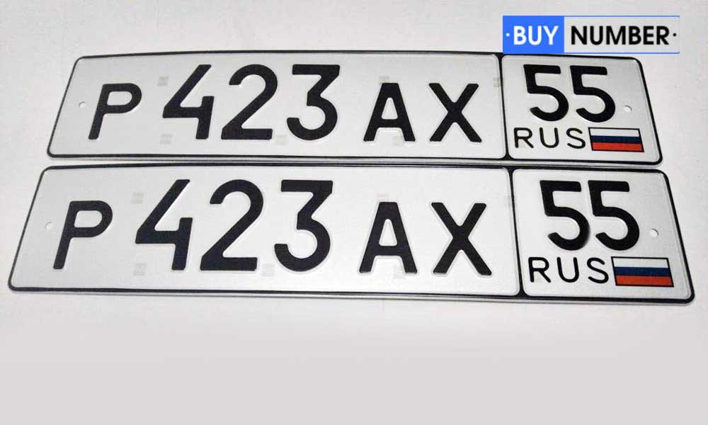 Дубликат рег. номеров автомобиля - 55 региона