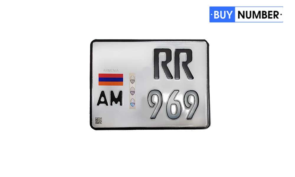 Дубликаты гос номеров Армении на мотоцикл нового образца