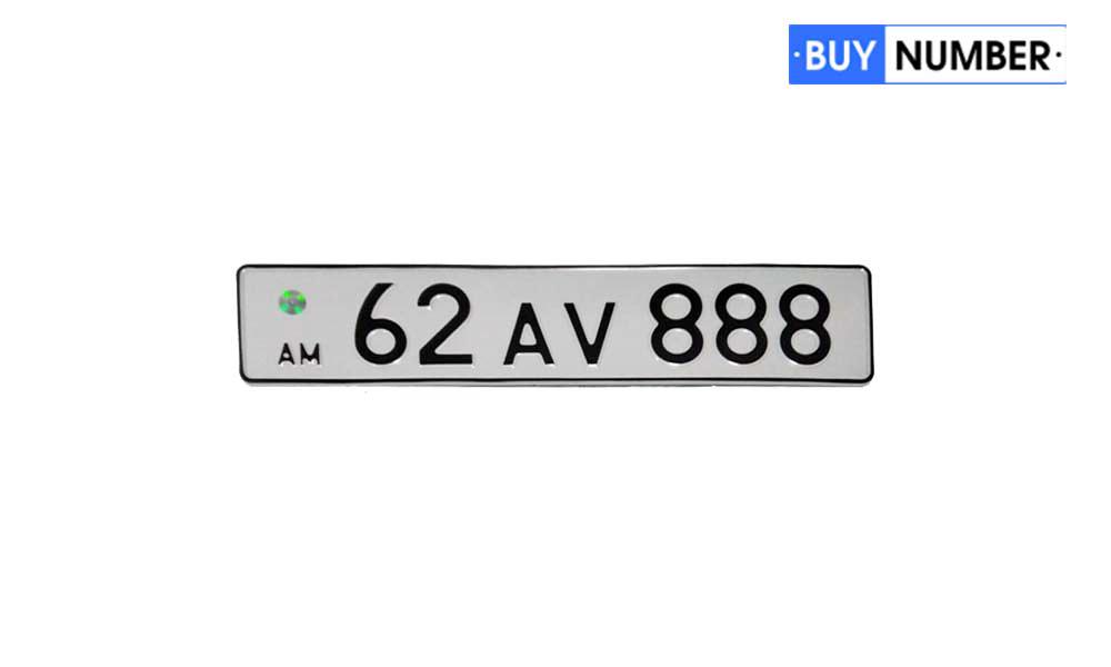 Копия Армянской номерной пластины старого образца на автомобиль