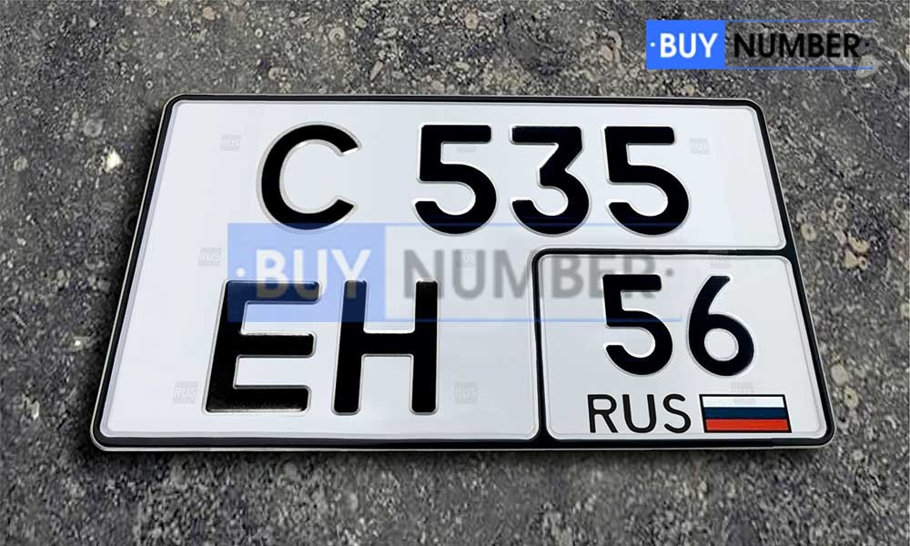 Квадратный номер на авто - 56 региона