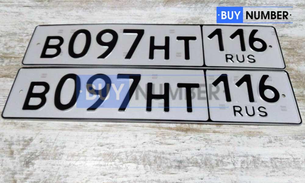 Дубликат рег. номера без флага на автомобиль - 116 региона