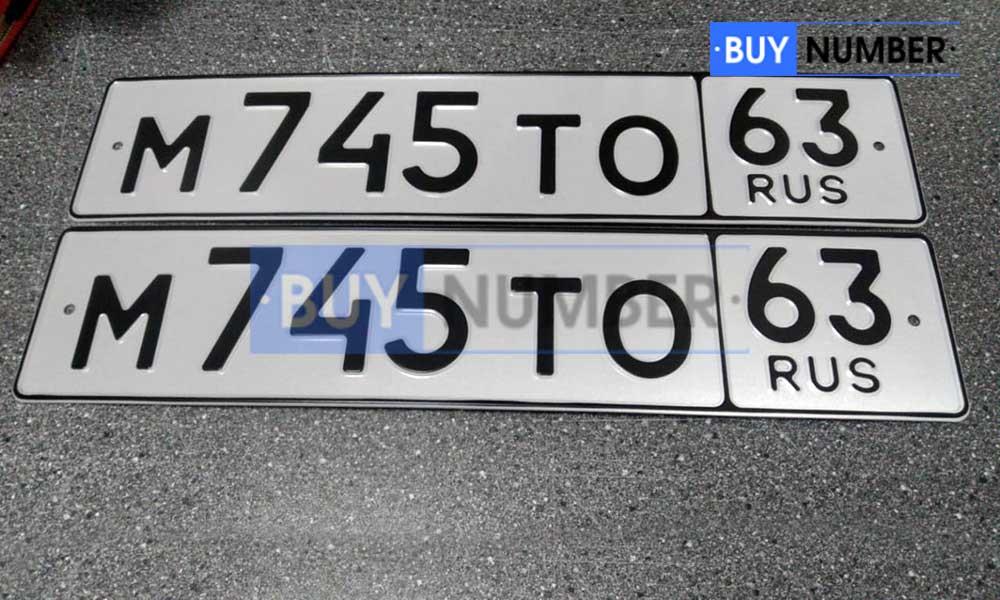 Дубликаты номера на авто без флага РФ - 63 региона