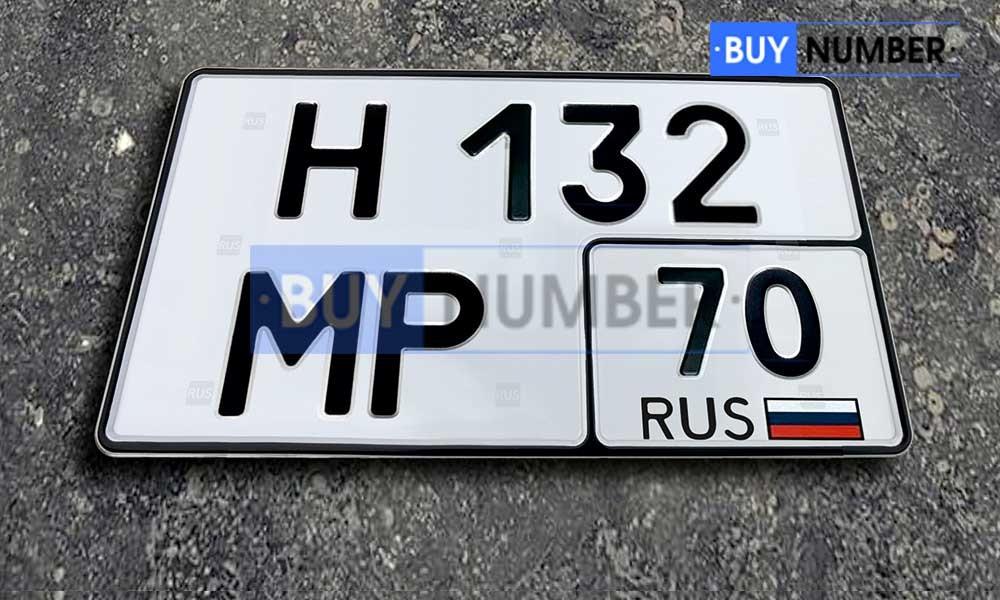 Квадратный номер нового образца на авто - 70 региона