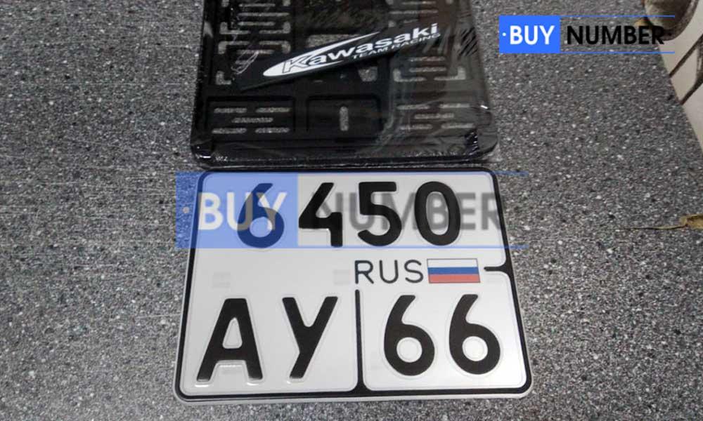 Квадратный государственный номер на мотоцикл - 66 региона