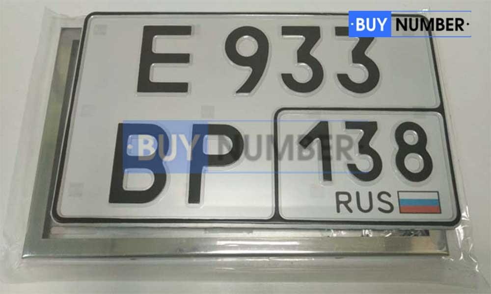 Квадратный номер на авто - 138 региона