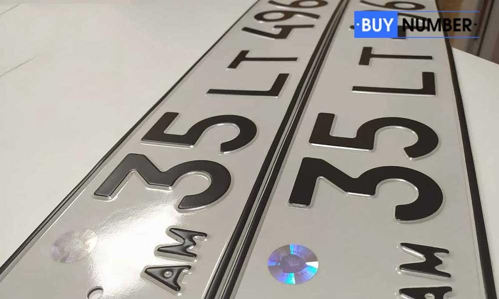 Дубликат армянского номера старого образца на авто
