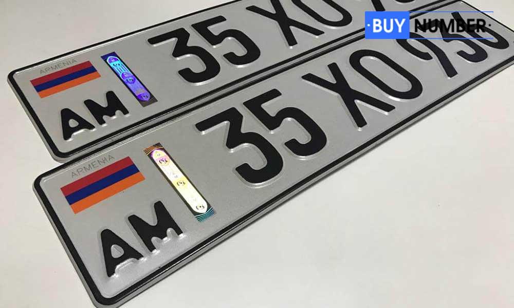 Дубликат армянского гос номера для авто нового образца