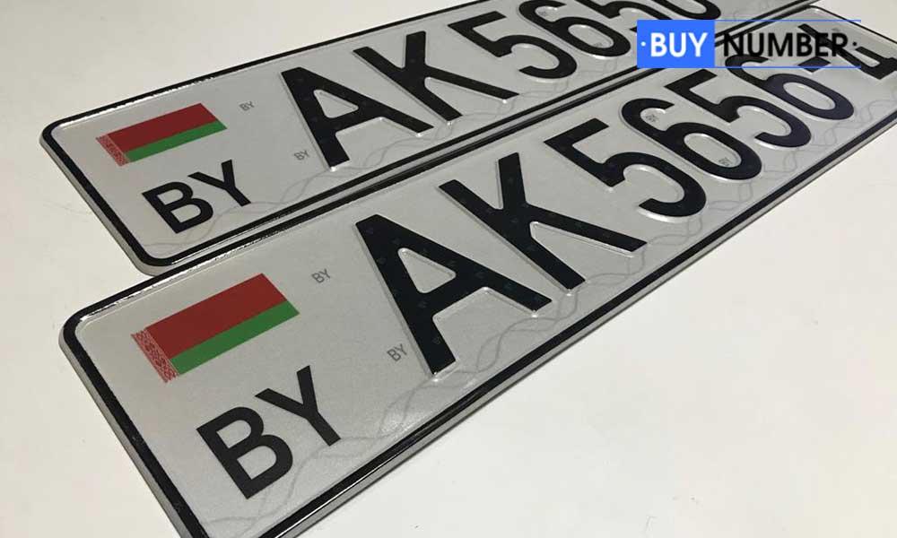 Дубликат Белорусского номера на автобус