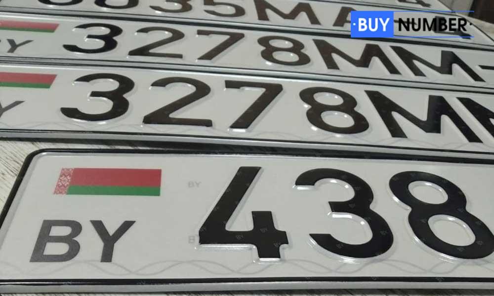 Дубликат Белорусского гос номера на автомобиль