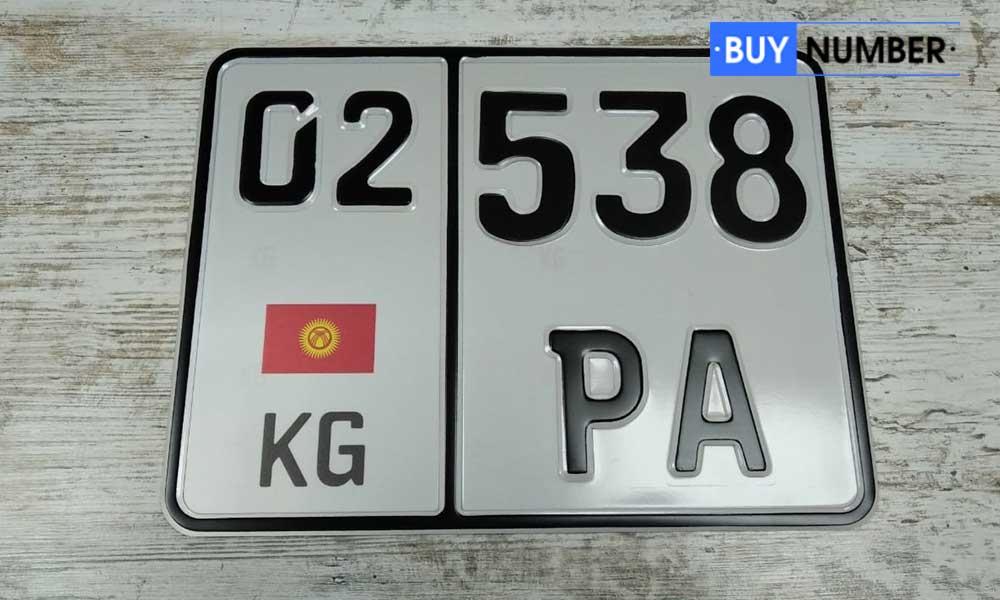Дубликат киргизского номера для мотоцикла