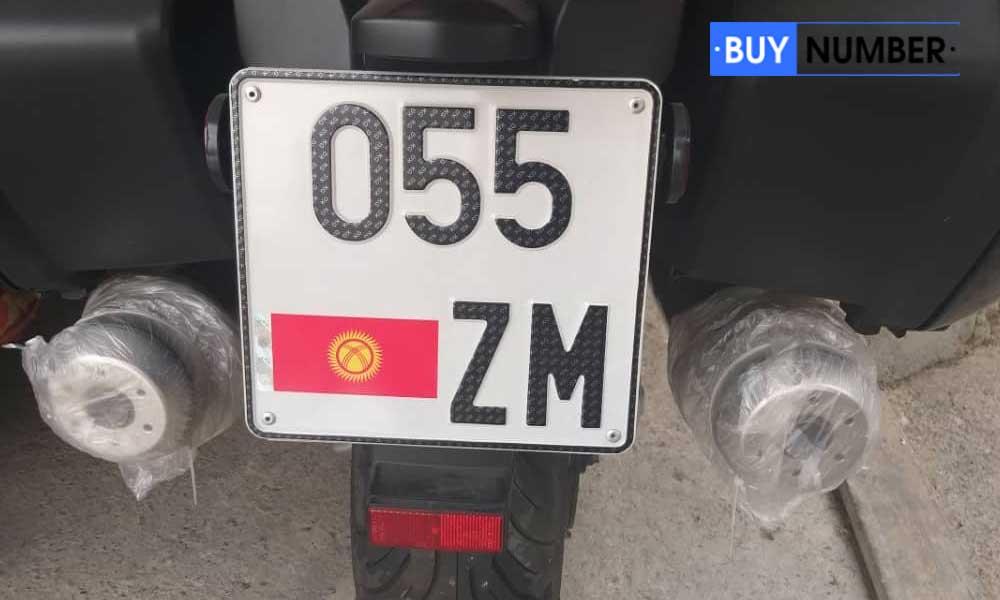 Дубликат киргизского номера для мотоцикла старого образца