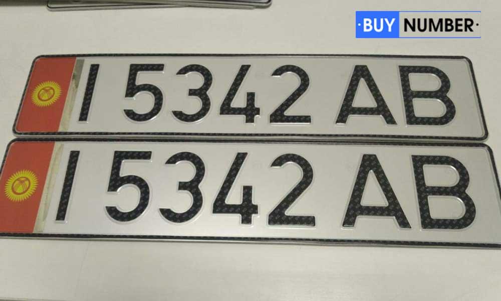 Дубликат киргизского номера старого образца на авто