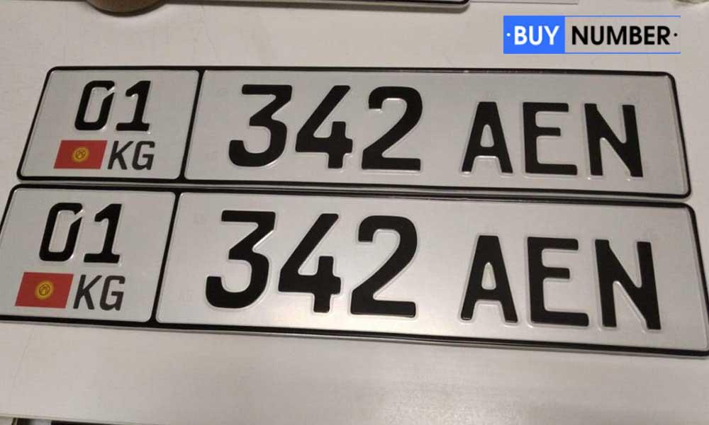 Дубликат киргизского дипломатического номера на автомобиль ООН