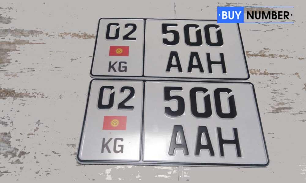 Дубликат квадратного киргизского номера на автомобиль юридических лиц и представителей