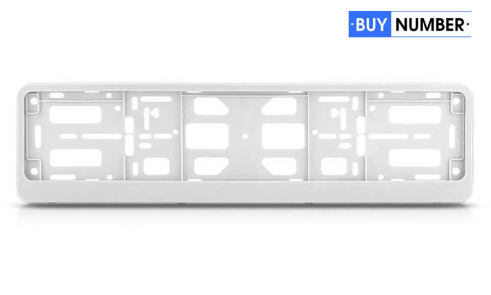 Рамки для номеров на авто белые