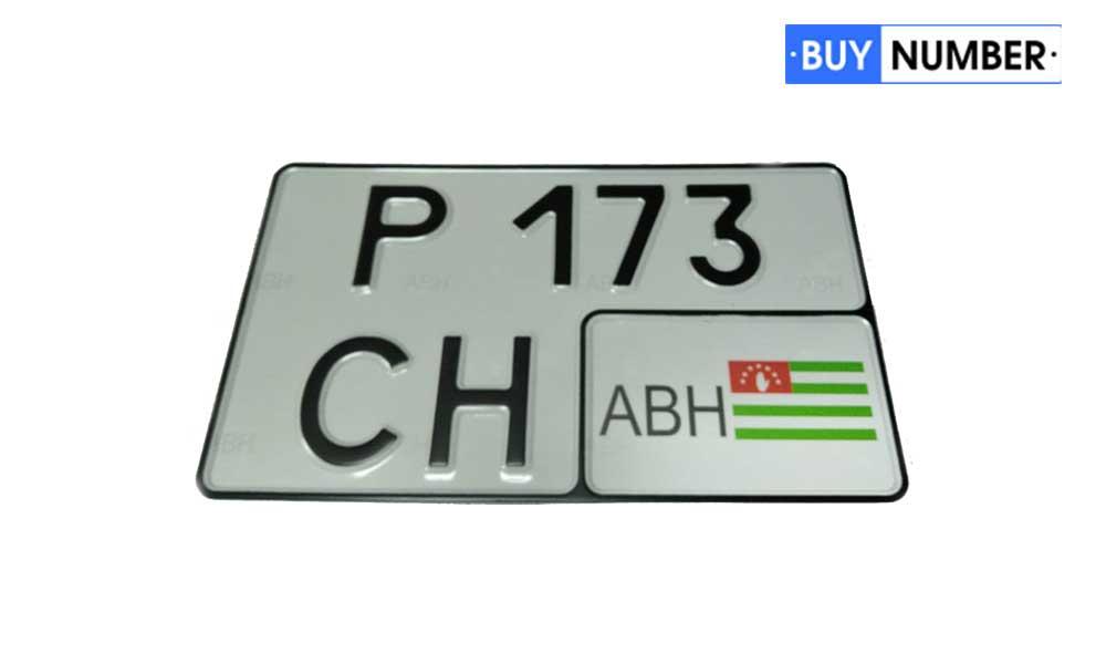 Квадратный гос номер Абхазии на автомобиль