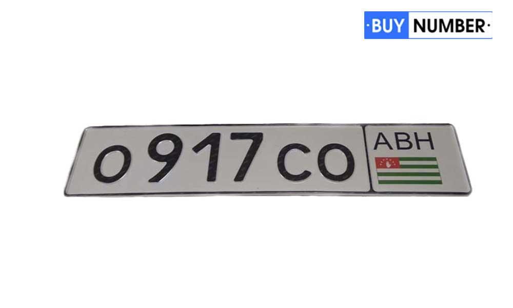 Дубликат номера Абхазии на автомобиль