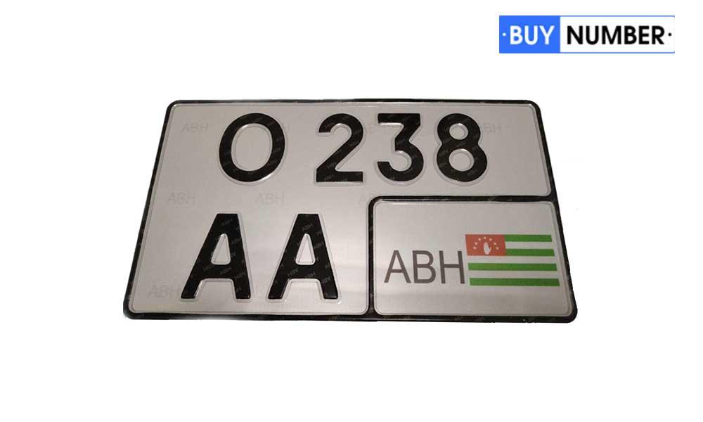 Дубликат квадратного номера Абхазии на авто