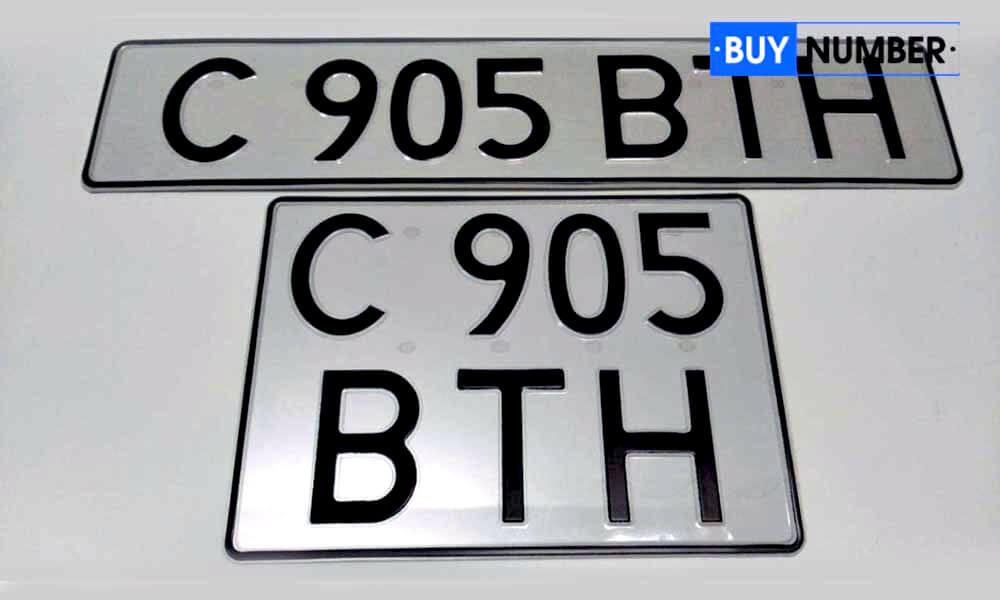 Дубликат квадратного казахского номера на авто старого образца
