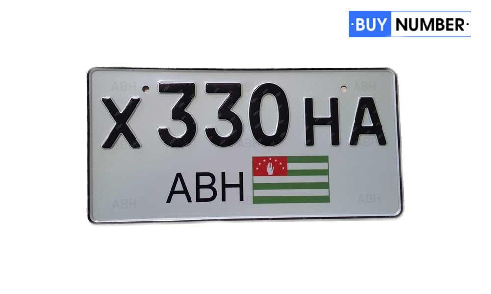 Квадратный гос номер Абхазии на японские авто