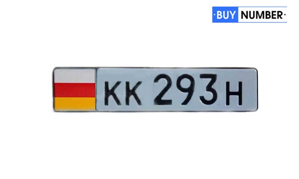 Дубликат номера Южной Осетии на автомобиль правительства страны