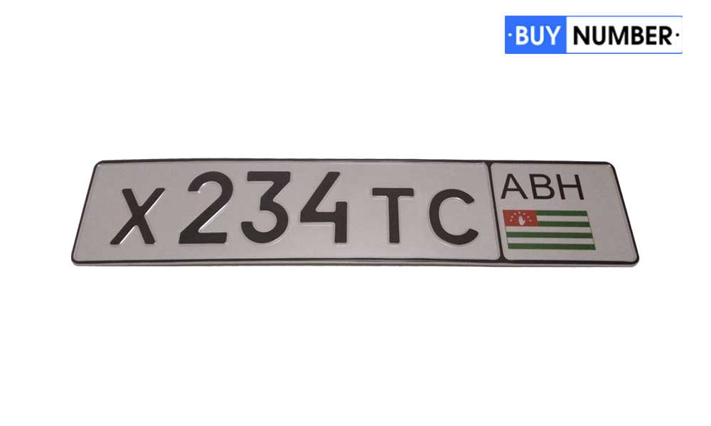Дубликат номера нового типа Абхазии на авто