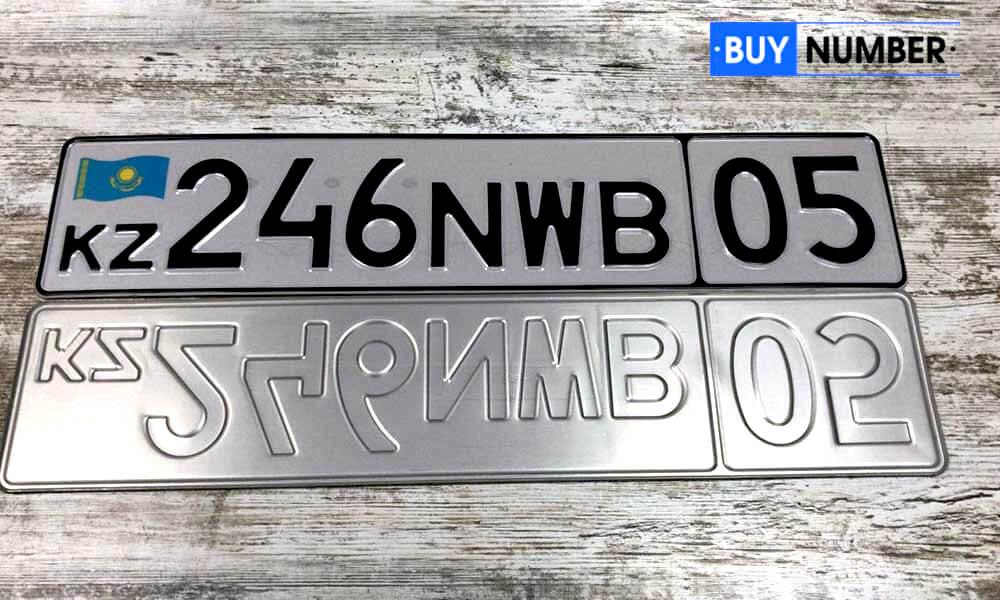 Дубликат казахского номера на авто МВД старого образца