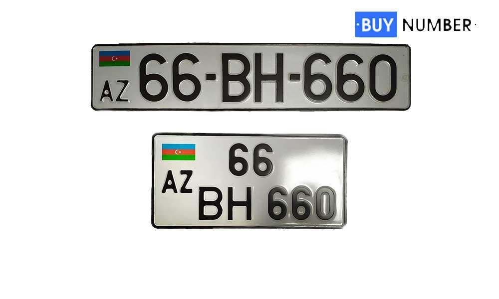 Дубликат гос номера Азербайджана на автомобиль
