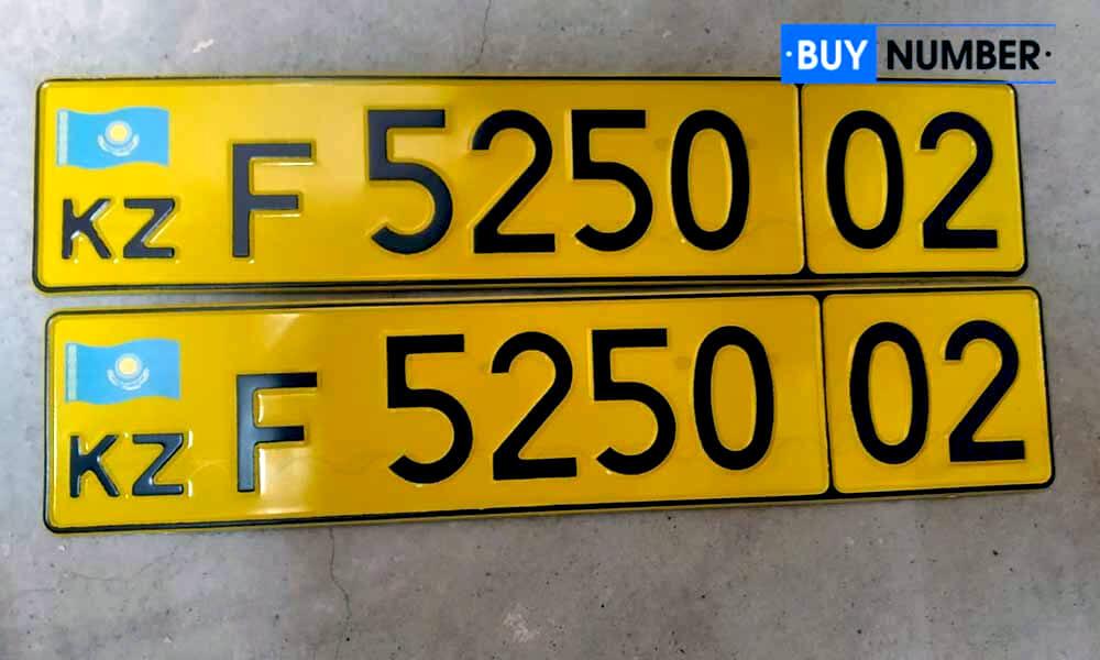 Дубликат казахского номера на авто иностранных граждан (желтые)