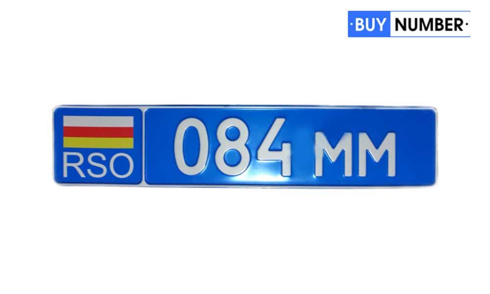 Дубликат номера Южной Осетии на автомобиль МВД страны (синий)