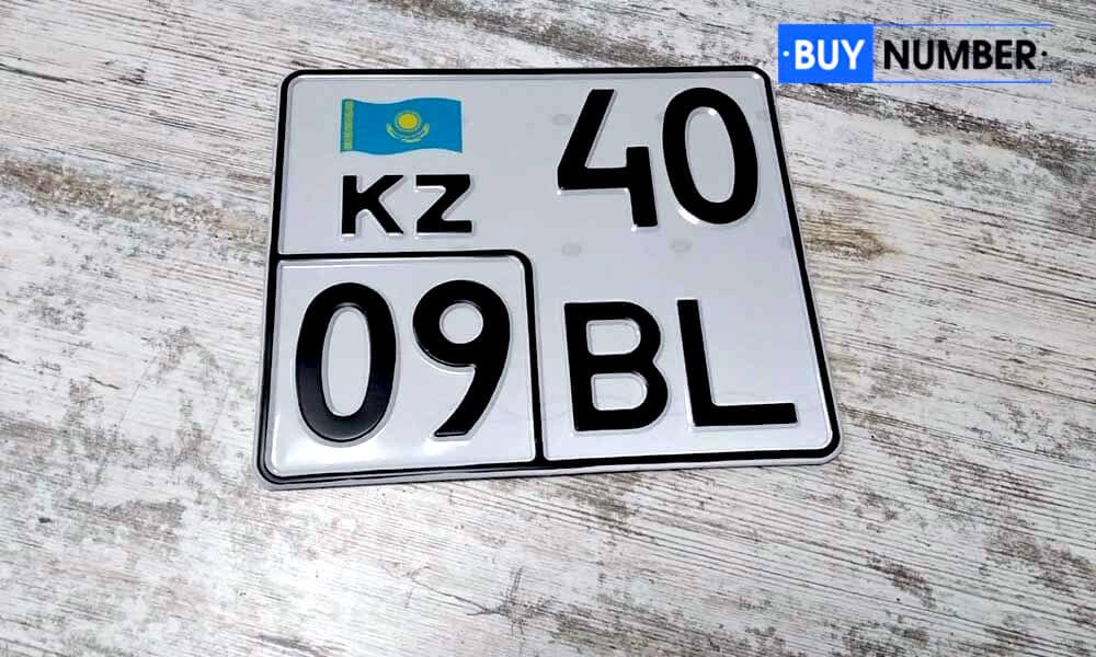 Дубликат казахского номера старого образца для мотоцикла