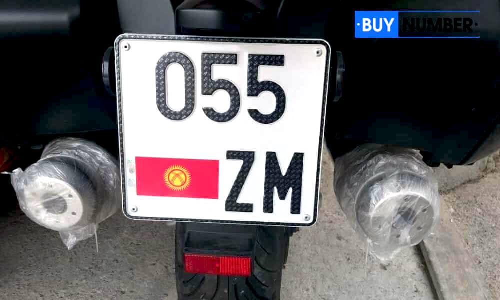 Дубликат киргизского номера для мотороллера старого образца