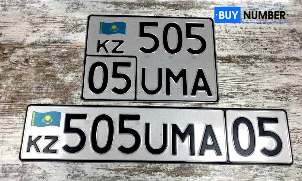 Дубликат казахстанского номера на автомобиль