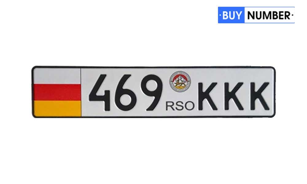 Дубликат номера Южной Осетии на машину ГСО страны