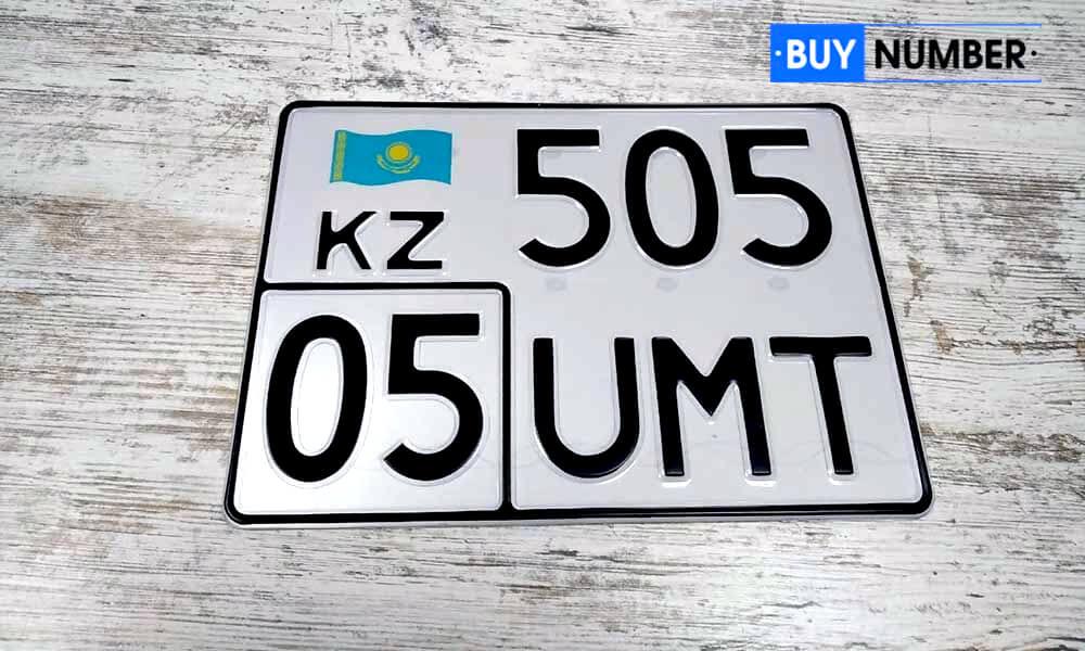 Дубликат казахского квадратного номерного знака