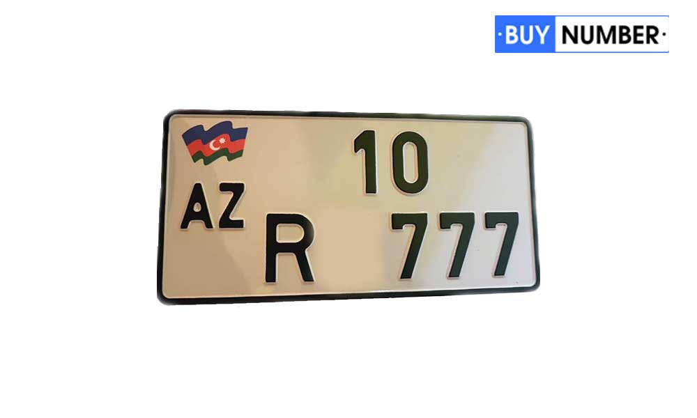 Дубликат гос номера Азербайджана на мото старого образца
