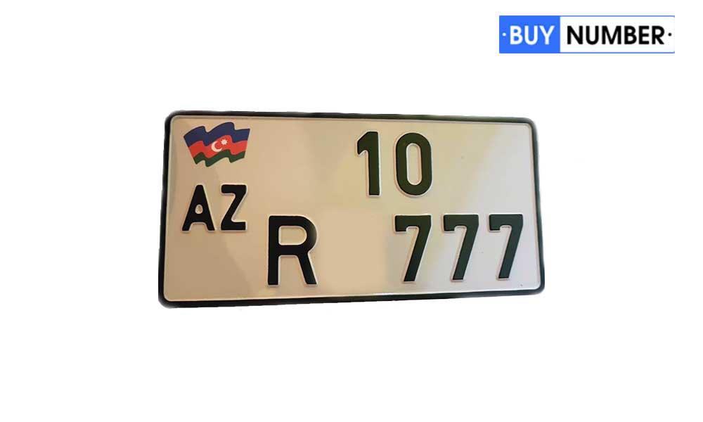 Дубликат гос номера Азербайджана на мотоцикл старого ГОСТа