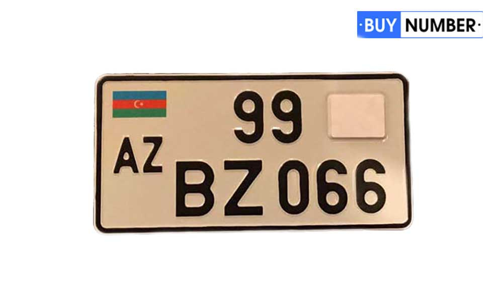 Дубликат квадратного гос номера Азербайджана на авто нового образца