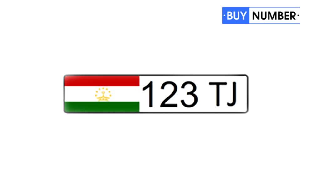 Дубликат дипломатического гос номера Таджикистана на автомобиль