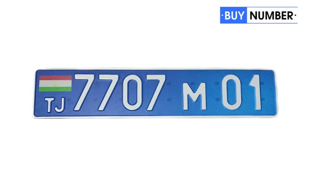 Дубликат гос номера Таджикистана для автомобилей МВД РТ