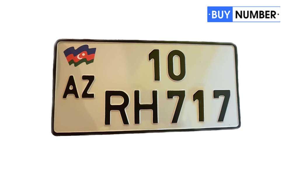 Дубликат квадратного гос номера Азербайджана старого образца на авто