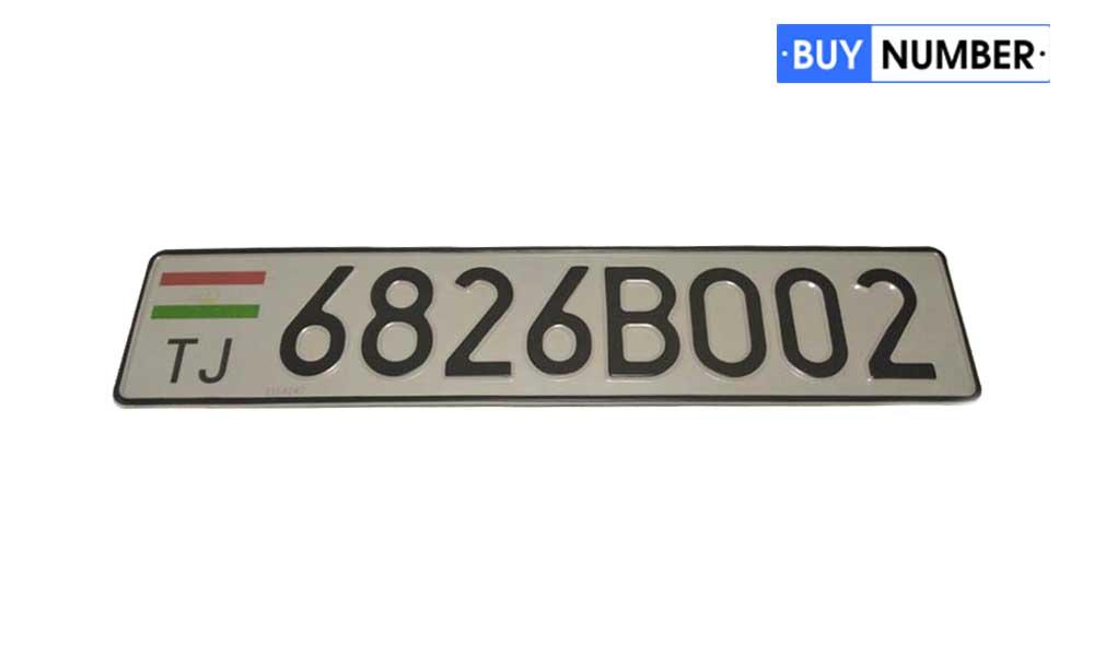 Дубликат гос номера Таджикистана нового образца для автомобилей