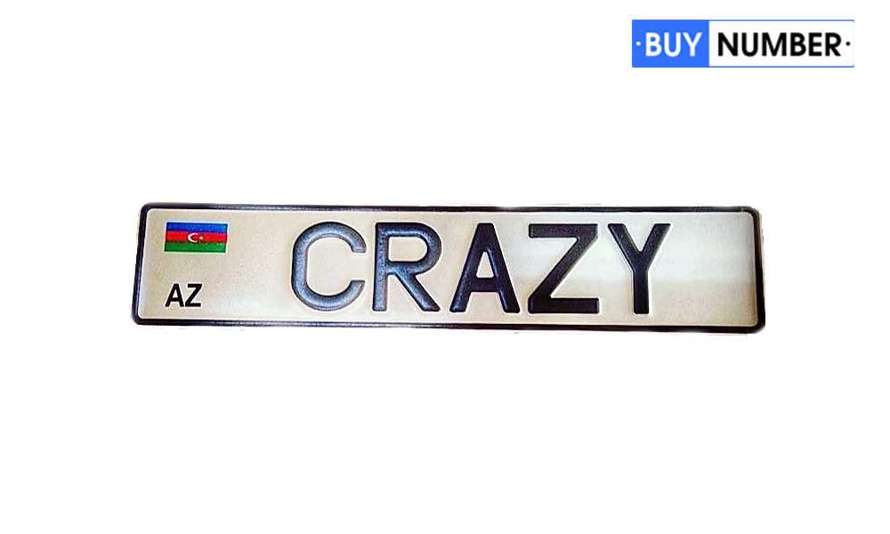 Сувенирный гос номер Азербайджана на автомобиль с любой надписью
