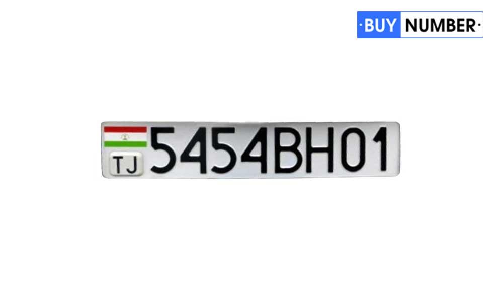 Дубликат гос номера Таджикистана для автомобиля с чипом